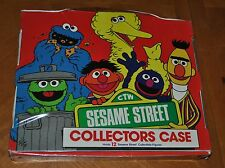 SESAME STREET COLLECTORS CASE WITH 12 FIGURES 1985 ONLY 1 ON E-BAY VERY RARE
