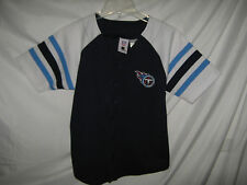 Tennessee Titans NFL Yout Baseball Style Jersey Chris Brown Navy Large 14/16 *