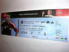 used ticket DENMARK - PORTUGAL 05.09.2009 perfect