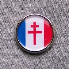Pin's Drapeau FRANCE LIBRE Croix de Lorraine CDG