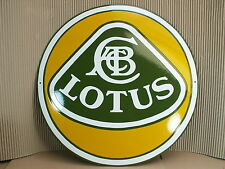 LOTUS Emailschild ECHTE Emaille Schild Durchmesser 47 cm Enamel sign