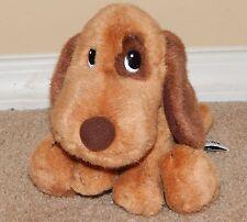 """7"""" Russ Berrie Brown w/ Spot Plush Puppy Dog Caesar cesar"""