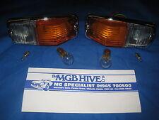 MGB PAIR  FRONT SIDE LAMP LIGHT ASSEMBLIES & BULBS 1962 -1974   BHA4966 F2B