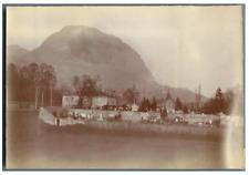 France, Grenoble, Le cimetière ancien de la Tronche  Vintage citrate print Tir