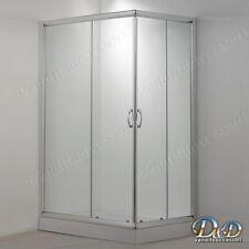 Box doccia bagno 70x120 Cristallo trasparente 6mm angolare apertura scorrevole