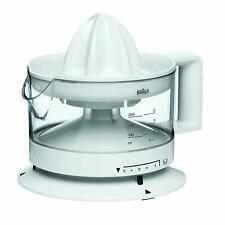 Braun Electric Automatic Citrus Press Juicer 350ml, Adjuable Pulp Control, White
