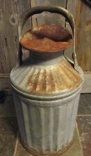 Vintage Galvanized DAVISBILT can handle spout  Cincinnatti OH davis weld 5 GAL