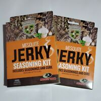 2 Mossy Oak GameKeepers Mesquite Jerky Seasoning Kit beef wild game up to 10 Lb