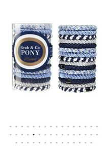 L.Erickson Grab and Go Pony Tube Hair Ties in Sparkle 15 Pack