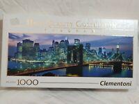 Clementoni Panorama NEW YORK BROOKLYN BRIDGE 1000 Piece Jigsaw Puzzle - COMPLETE