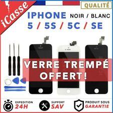 ECRAN LCD IPHONE 5 / 5C / 5S / 5 SE - + Verre Trempe  VITRE TACTILE AAA GRADE