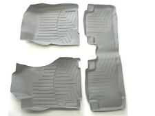 07 08 09 10 11 HONDA CR-V CRV GRAY RUBBER ALL WEATHER SEASON FLOOR MATS USED SET