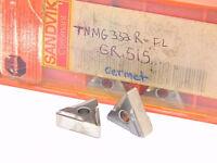 NEW SURPLUS 5PCS. SANDVIK  TNMG 332RFL  GRADE: 515  CERMET INSERTS