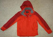 Lands End Primaloft Jacket Parka Hooded Ski Snow Coat Insulated Mens S Orange