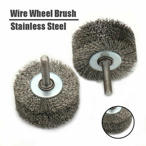 """2"""" Stainless Steel Wire Wheel Brush for Die Grinder Drill Rotary Tool 1/4"""" Shank"""