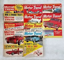 Motor Trend Magazine 1959 Near Complete Year 10 Full Issues - Restoration Guide