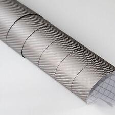DIN A4 Wrapping Folie 3D Carbon Grau 21cm x 29,7cm Autofolie mit Luftkanälen