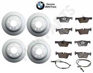 For BMW F30 F31 F32 3/4 Series Front&Rear Disc Brake Rotors Pads Sensors Kit OES