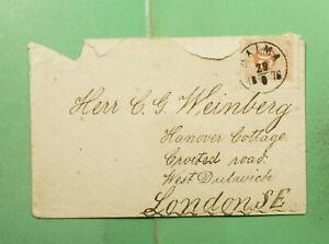 DR WHO 1876 SWEDEN MALMA #23 TO ENGLAND  g17269