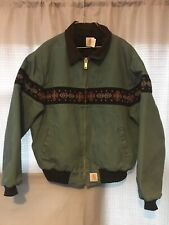 RARE VINTAGE CHRISTMAS LINED Carhartt Jacket With Corduroy Cuff