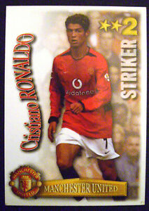 Cristiano Ronaldo Rookie Man United Shoot Out Card 2003/2004 Excellent Condition