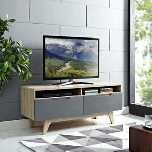 "Origin 47"" TV Stand, Walnut White  or Grey  FREE SHIPPING MID CENTURY MODERN"