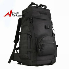 65L Molle Army Military Tactical Combat Rucksack Backpack Travel Day Pack Bag BK