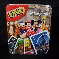Disney Parks UNO Card Game Collectible Metal Tin Mickey Minnie Walt Disney World