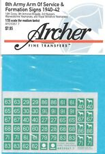 Archer British 8th Army Arm Of Service & Formation Signs AR35067.7
