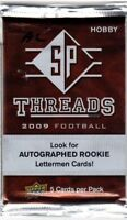 1-2009 UPPER DECK SP THREADS NFL LETTER PATCH AUTOGRAPH HOBBY HOT PACK GUARANTEE