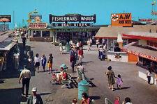 Vintage Redondo Beach Pier A&W Root Beer CA 1960's (photo print of postcard)