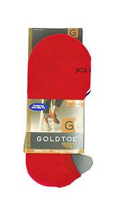 New Gold Toe 3 Pack Red/Blue/White Loafer Liner Socks 10-13