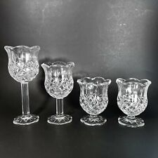 Homco Glass Candle Holder 4 Piece Set