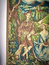 ! qué espléndidas francesa yrealizó 19.jh. Gobelin caza motivo escena tapiz
