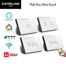 AU Approved Smart WIFI Wall Light Touch Panel Switch App Socket Alexa Google hom