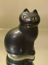 LISA LARSON SWEDISH CERAMIC BLACK KITTEN CAT GUSTAVSBERG SWEDEN