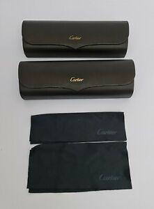 Cartier leather burgundi Glasses case funda gafas 16×7 cm.