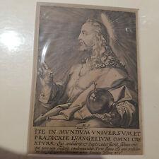GESU' incisione a  Bulino 1589 2 stato di 2 Hendrick GOLTZIUS