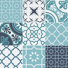 Fliesen Azulejos je 9,8x9,8 cm – 9 Designs Aufkleber Set - 36 Sticker Design 1-9