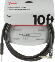 Fender Professional Guitar/Instrument Cable, Straight-Right Angle, 10' ft