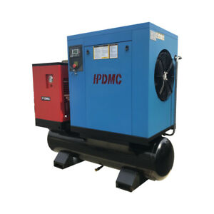 20HP 3 Phase Rotary Screw Air Compressor 81CFM With Air Dryer and 120Gal. Tank