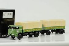 1961 BÜSSING LU 11/16 Trailer de camión pritschenzug SCHENKER 1:43 MINICHAMPS