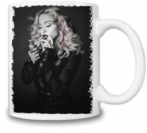 Madonna Cigarette Light themed 11oz Ceramic coffee Mug Birthday gift.