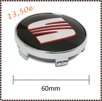 SEAT 4 x 60mm Schwarz Rot Nabendeckel Aufkleber Alufelgen Felgen