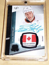 12-13 The Cup Ryan Getzlaf Laundry Tag Auto Black 1/1 Beautiful CANADA Tag