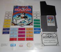 VINTAGE ORIGINAL NINTENDO NES MONOPOLY PARKER BROTHERS VIDEO GAME & MANUAL