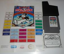 VINTAGE ORIGINAL NINTENDO NES MONOPOLY PARKER BROTHERS VIDEO GAME & MANUAL