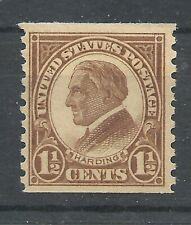 US  SC # 598. US President Harding. Perf. 10 Vert. MNH OG VF