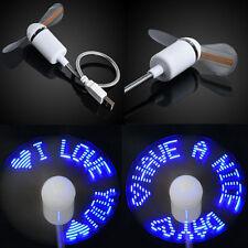 MINI-ADJUSTABLE-FLEXIBLE-GOOSENECK-USB-LED-CLOCK-COOL-FAN-LAPTOP-DESK Protable