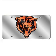 Chicago Bears Mirrored Laser Cut License Plate Laser Tag